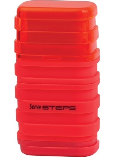 Serve Steps Sılgılı Kalemtıras Kırmızı Teklı Renkli